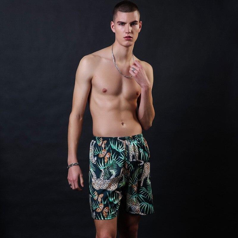 Silky Men's Rayon Summer Shorts Leisure Pajamas Pyjamas Male Casual Lounge Short Pants Loose Soft Sleepwear Bottoms
