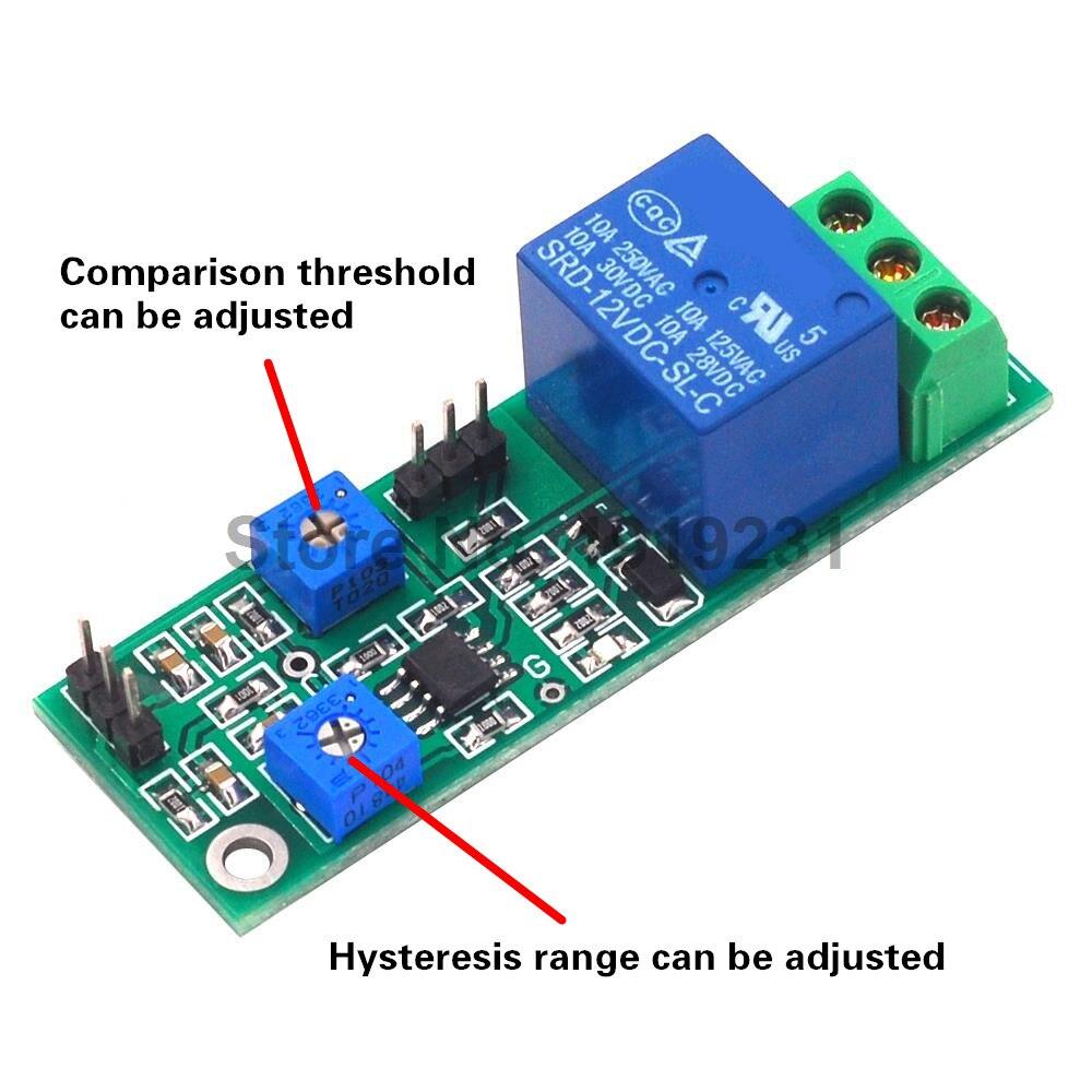 Nível alto ajustável do limite do módulo do comparador da tensão da histerese 5 v 12 v e placa dupla do comparador do jitter da saída do interruptor