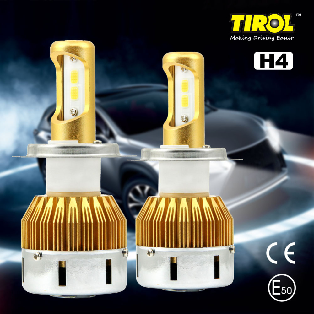 Tirol Car LED Headlight Bulbs 40W 4800LM Headlight Kit Beam Bulbs 6000K High Power White CarLight Source Pack of 2 Free Shipping 1w led bulbs high power 1w led lamp pure white warm white 110 120lm 30mil taiwan genesis chip free shipping