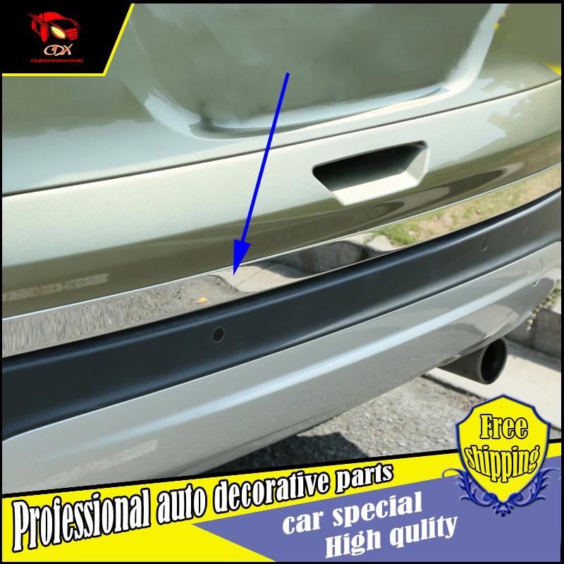 Car Styling Rear Door Tail Gate stainless steel Trim Cover Sticker For Ford Kuga 2013-2017 Exterior back door trim Decoration