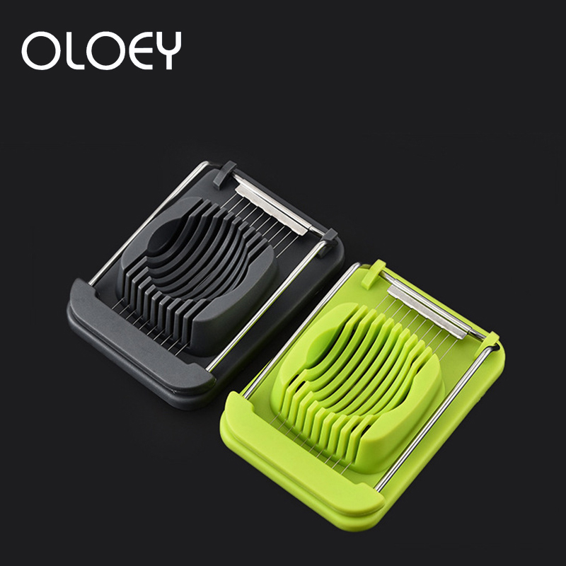 OLOEY Cocina Accesorio Stainless Steel Egg Cutter Multi-Function Slicer Kitchen Tool Splitter Accessories Chopper