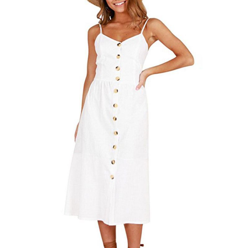 2018 Casual Boho Style Floral Print Summer Dress Women Beach DressesTunic V Neck Strap Backless Midi Vestidos Plus Size 3XL