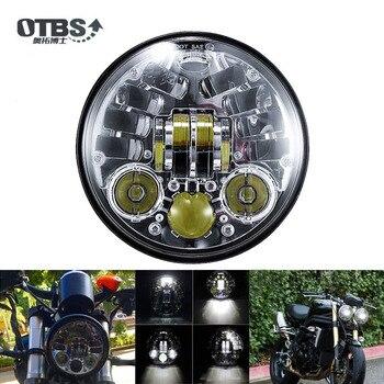 """OTBS 5,75 """"Faro proyector LED para HONDA VTX 1300 1800 Indias Bajaj vengador 1200 XL1200L de XL1200C 883 XL883 883L XL883"""