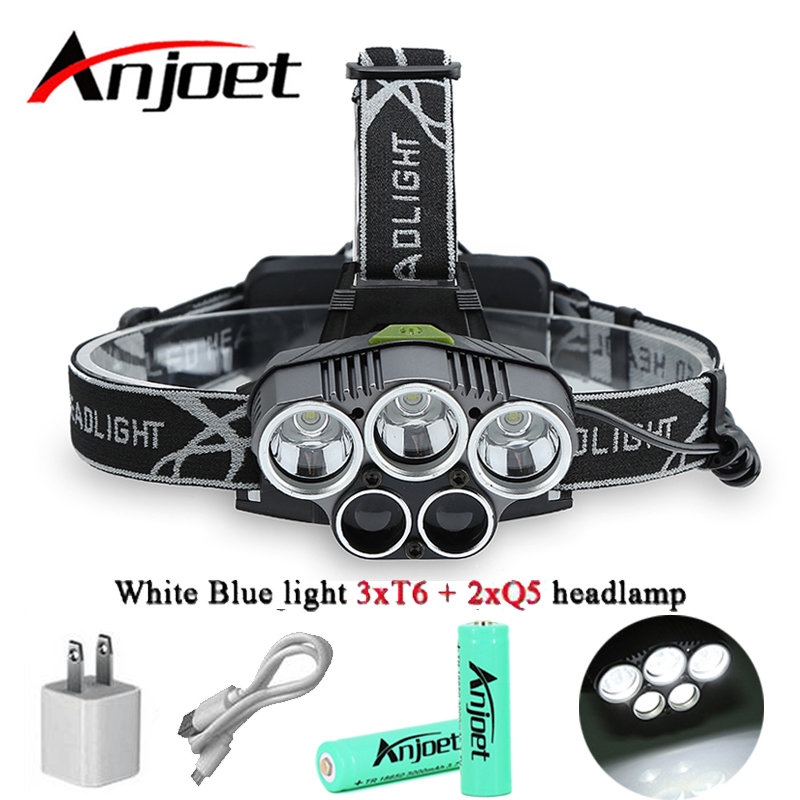 5 led headlamp XM L T6 Q5 headlight <font><b>15000</b></font> <font><b>lumens</b></font> led head lamp camp hike emergency <font><b>light</b></font> fishing outdoor Hunting equipment 18650 image