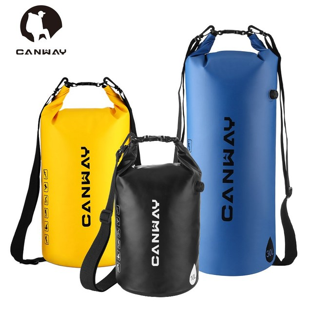 Canway 10l 20l 30l Outdoor Waterproof Bag Dry Camping Bolsa Impermeable Rafting Snorkeling Kayaking Canoeing
