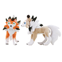 25cm Lycanroc Plush Toy The 7th Generation Sun Moon Wolf Werewolf Soft Stuffed Dolls