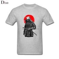 Японский самурайский череп солдата футболка Для мужчин мужской топ Дизайн Изделие из хлопка с короткими рукавами пользовательские 3XL пара ...