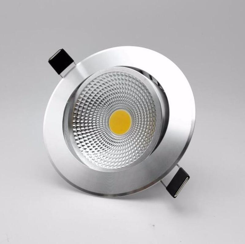 Бесплатная доставка затемнения 9 Вт/15 Вт удара светодиодные светильники потолочные встраиваемые светодиодные встроенное освещение White/silver ...