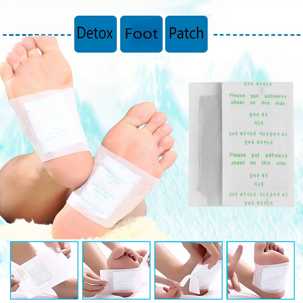 10pcs Slimming Foot Patches Detox Foot Patch with Sticky