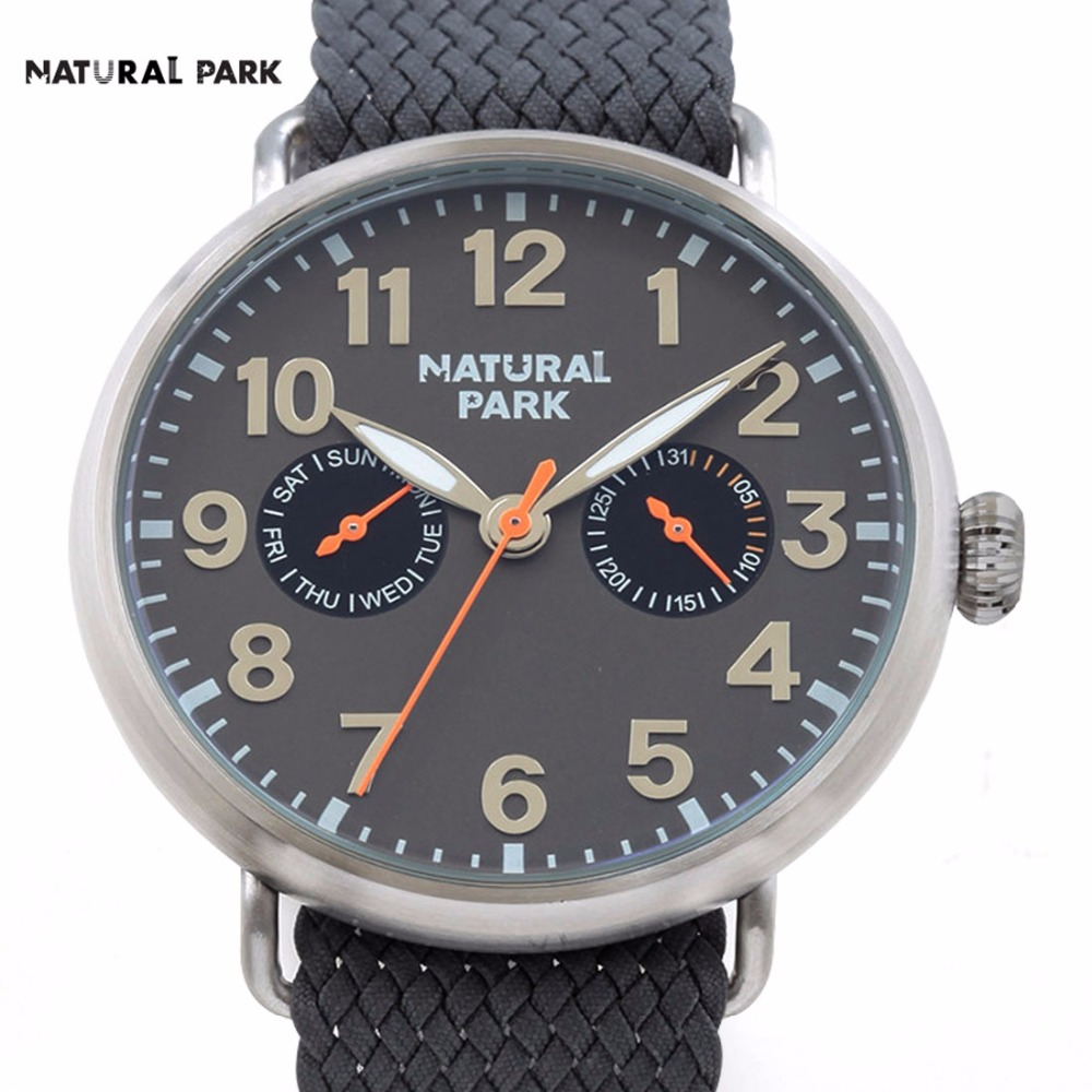 Unisex Watch Swiss Quartz Mov Fashion Brand Watch Men Casual Wristwatch NATURAL PARK relojes hombre hand made Nylon Strap 3ATM binger nylon strap watch hot sale men watch unisex hour sports military quartz wristwatch de marca fashion female male relojes