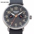 Unisex Watch Swiss Quartz Mov Fashion Brand Watch Men Casual Wristwatch NATURAL PARK relojes hombre hand made Nylon Strap 3ATM