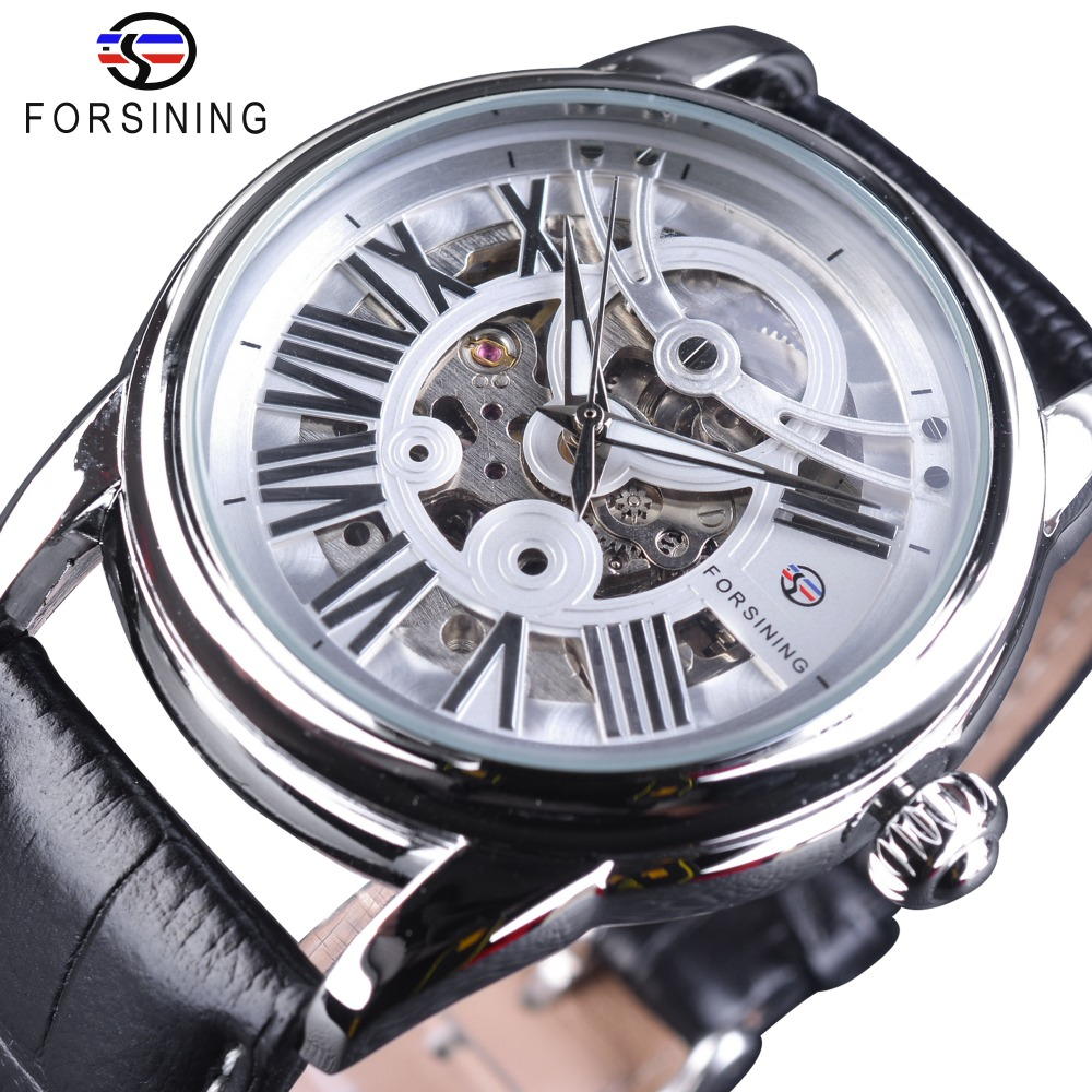 Forsining Official Exclusive Sale Roman Number Retro Classic Leather Belt Mens Watch Top Brand Luxury Automatic Mechanical WatchForsining Official Exclusive Sale Roman Number Retro Classic Leather Belt Mens Watch Top Brand Luxury Automatic Mechanical Watch