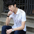Summer Casual Men Shirts Short 2017 Handsome Right Half Sleeve Small Yards Shirt Red Black 078