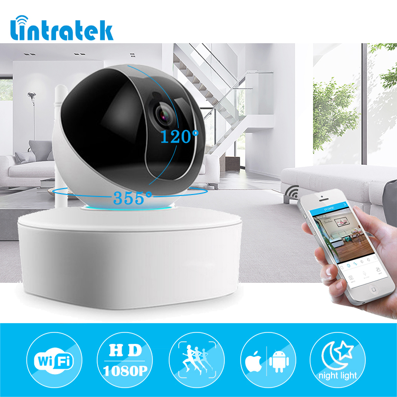 lintratek HD 1080P Wireless Security IP Camera Wifi Surveillance Camera Network Indoor Night Light Baby Monitor with 16G TF card 2017 new ec90 full carbon fiber road bike handlebar racing handle bike bend bicycle handle 31 8 400 420 440mm 7 colors