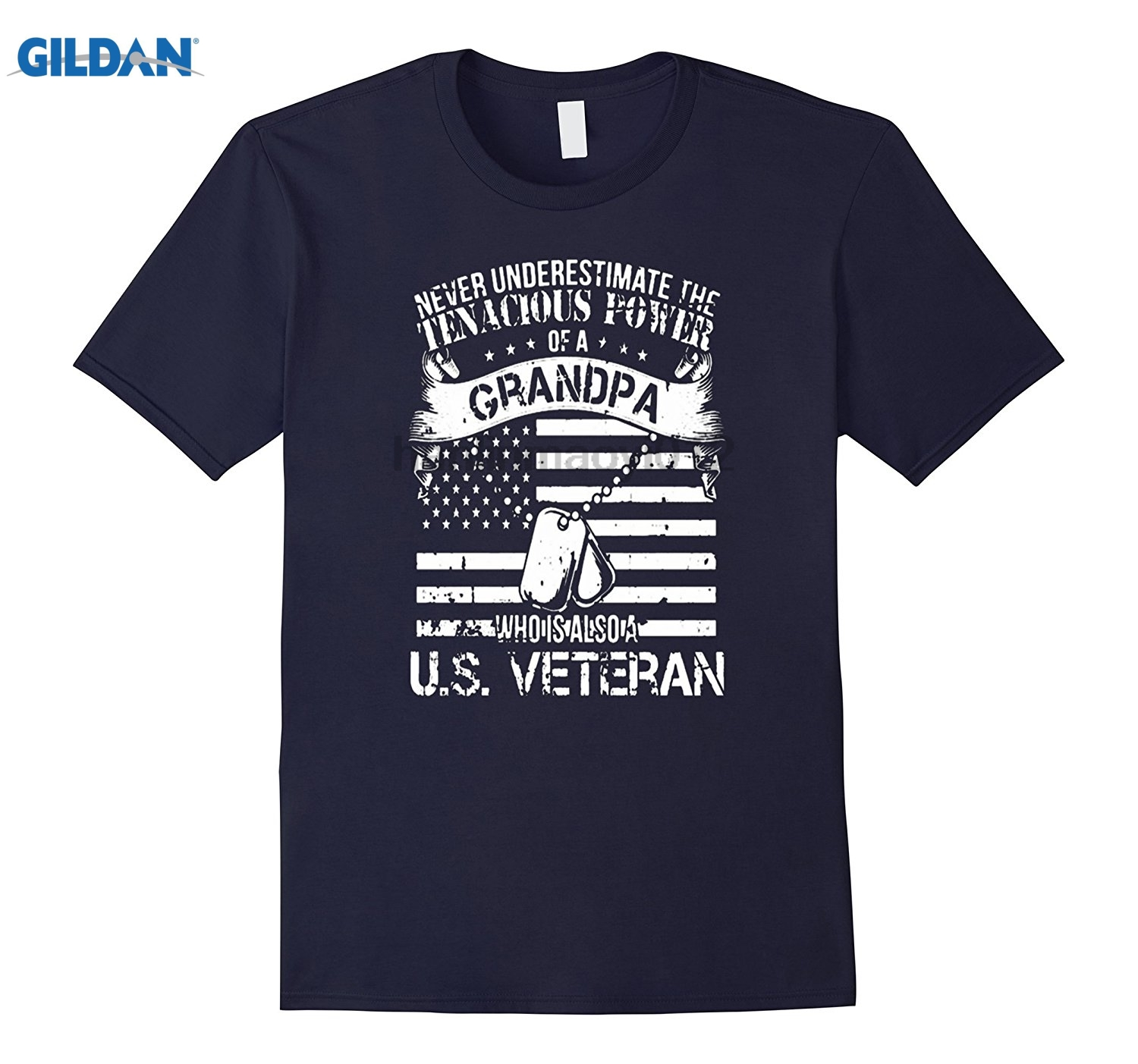 GILDAN Memorial Day Shirt- Tenacious Power Grandpa U.S veteran day Mothers Day Ms. T-shi ...