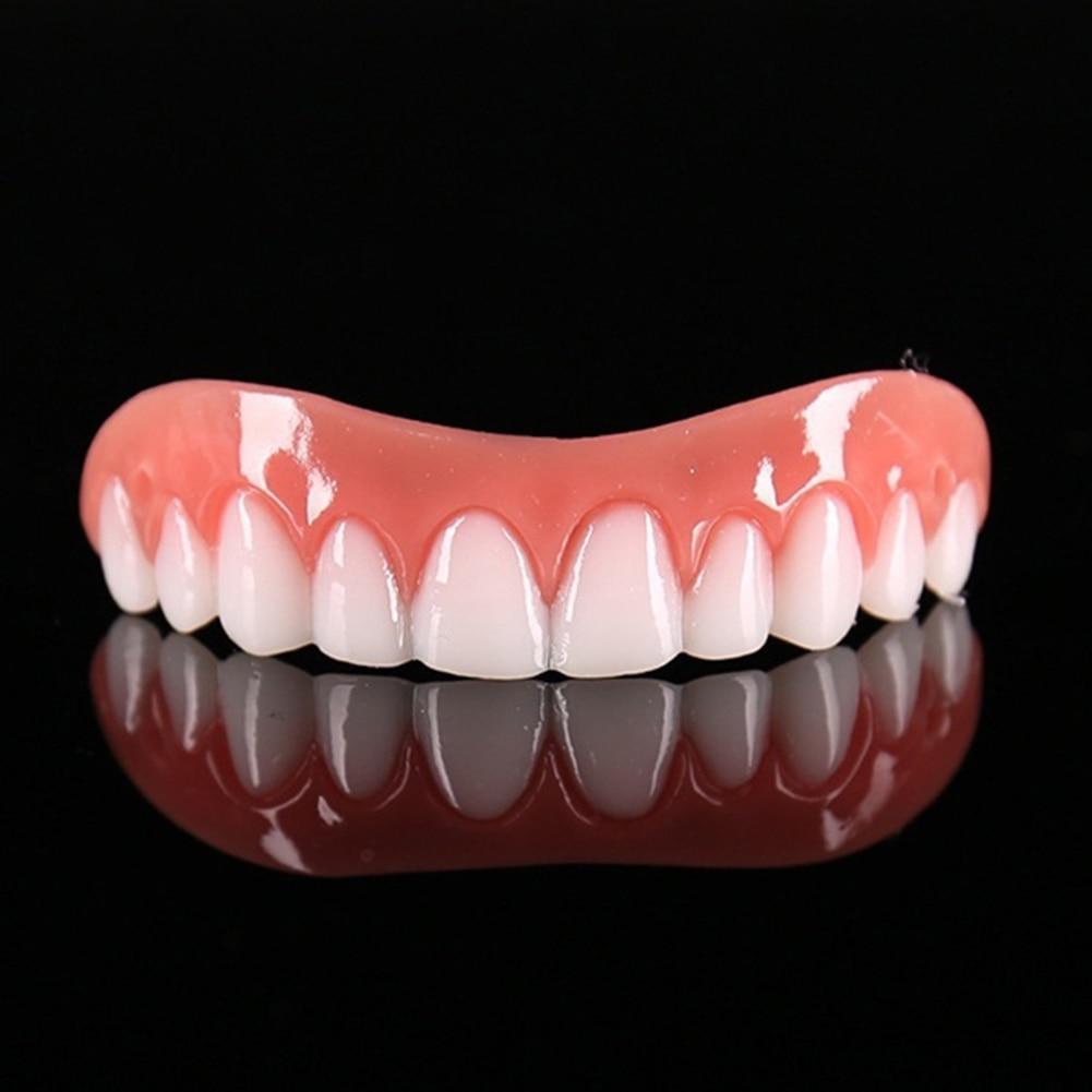 Hot 1Pc Cosmetic Teeth Snap On Secure Smile Veneers Dental False Natural  1