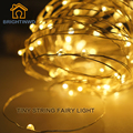 BRIGHTINWD LED Garland Christmas Outdoor String Lights 10M 33ft 100LEDS Copper Wire Battery Powered Fairy Lights Home Decoration