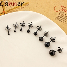 CANNER Stainless Steel Stud Earrings For Women Ball Stud Earrings Gold Bead Stud Earrings Jewelry Gifts Cute Round Earrings F40 цена