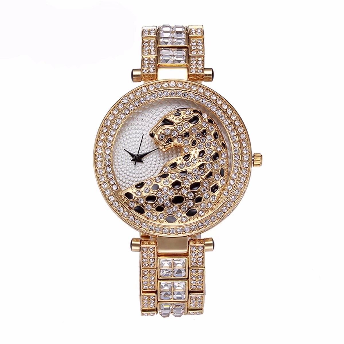 Fashion Women Crystal Diamond Quartz Watch Bling Casual Ladies Watch Miss Fox Female Quartz Gold Watch Leopard For Women Clock brand diamond rose gold women rhinestone watch female butterfly fashion steel women quartz bling dress watch for ladies bracelet