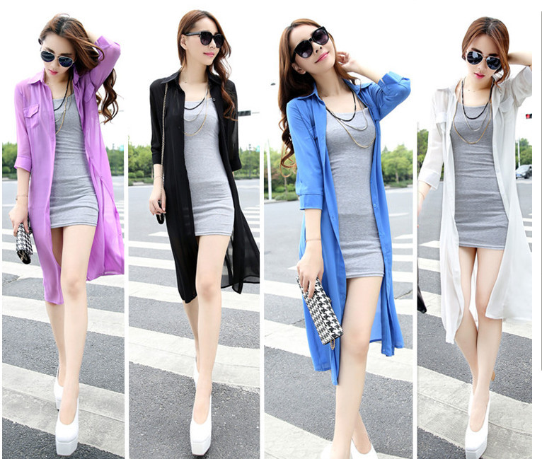 Aliexpress.com : Buy Women Blouse 2015 Summer Jacket For Girl ...