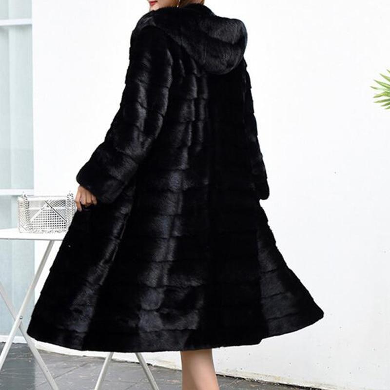 Luxo longo personalizar mais tamanho da fábrica preço real genuíno coelho casaco de pele real feminino casaco de pele novo inverno sr587