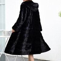 Luxury Long Customize Plus Size Factory Real Price Genuine Rabbit Real Fur Coat Women Fur Jacket New Winter sr587