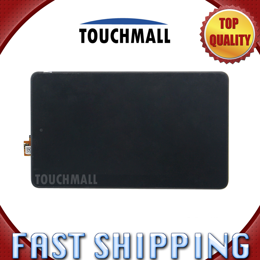 ФОТО For Amazon Fire 7 2015 Replacement Digitizer LCD Display Touch Screen Glass Assembly with Frame 7-inch Black For Tablet