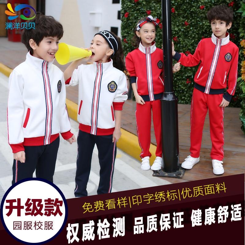 Children clothing sets 2016 spring kids boys outerwear jacket  coats+pants clothes toddler tracksuit girls Kindergarten Uniforms