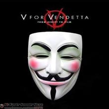 """Горячая распродажа! маскарадные маски для команды """"вендетта"""" guy fawkes, маска на Хэллоуин, Высококачественная маска из смолы, 16*19 см, 345 г"""