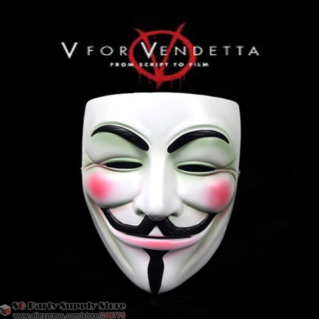 hot v vendetta team guy fawkes masquerade masks halloween mask high quality resin mask 16