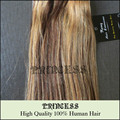 """Atacado Remy cabelo grampo em extensões 20 """" - 26 """" 8 Pcs 105 g Mixed loiro # 4/27"""