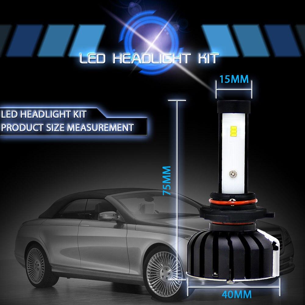Vehemo 9005/H10/HB3 2 шт Светодиодный фар Светодиодный фонарь автомобиль стиль супер яркое освещение сборки автомобиля аксессуары спереди лампа