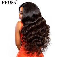 Застежка парик 250 плотность Синтетические волосы на кружеве человеческих волос парики для женский, черный 4x4 тела волны бразильский Синтети