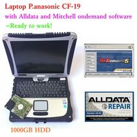 2019 Hot Selling Alldata 10.53 and Mitchell ondemand 2015v Auto Repair Software installed well in Toughbook CF19 Laptop 4g Used