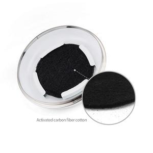Image 5 - מטבח קומפוסט סל 5L אורגני תוצרת בית אשפה יכול מלונים עלים ברזל עגול פחם מסנן דלי חיצוני אבזרים