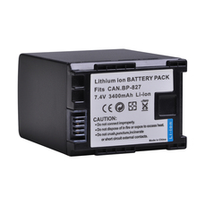1pc 3400mAh BP-827 BP 827 Camera Battery for Canon BP-819 BP-807 BP-809 HG31 XA10 HF20 HF10 HF100 HF100E HG20 HG21 HF11 HFS100