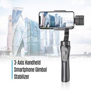 Image 5 - 3 achse Handheld Gimbals Smartphone Stabilisator Eingebaute Lithium Batterie für iPhone Xs Max/Xs/X/8 plus für Samsung Huawei Xiaomi