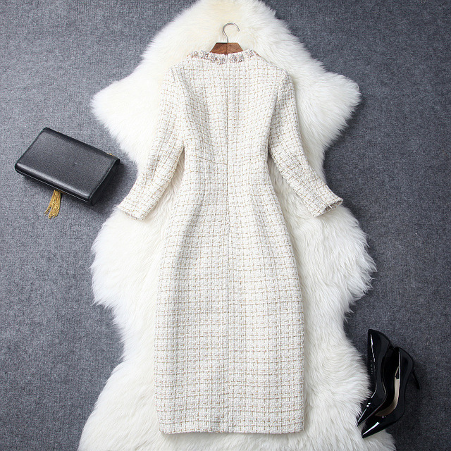 Luxury Diamonds Midi Wool dress