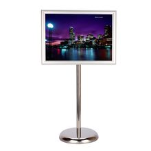 Adjustable A3/ A4 Display Pedestal Sign Floor Holder Stand Poster Silver Metal for Point-of-Sale/ Exhibitions/ Events & Promotio(China)