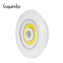 Sensor de Movimento Ativado Luz Da Noite Da Bateria Operado Luz de Coquimbo Para Roupeiro Escada Lâmpada PIR Sensor De Movimento Noite