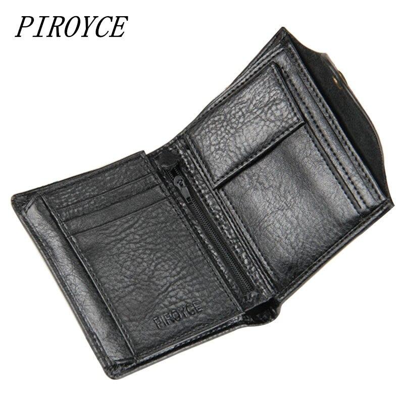 PIROYCE Genuine Leather Men Wal