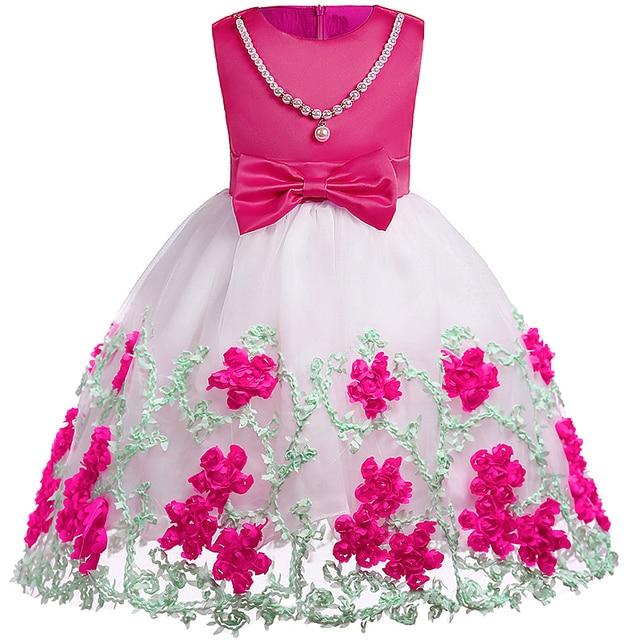 Bebé Niñas para Niñas boda eveving partido Vestidos flor niños ...