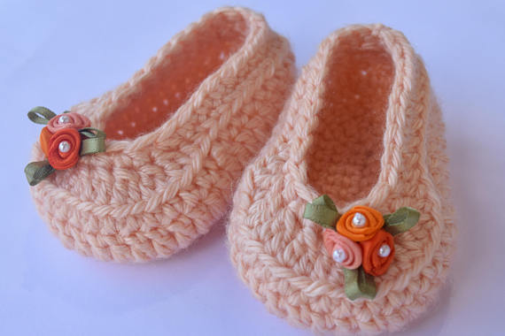 girl Shoes colorful Loafer Shoes Baby Shower Gift Crochet Booties