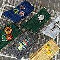 Mujeres summer floral joya hecha a mano cruz flor de la piña fruta escarcha de piedras de cristal sólido calcetines de algodón calcetines de invierno