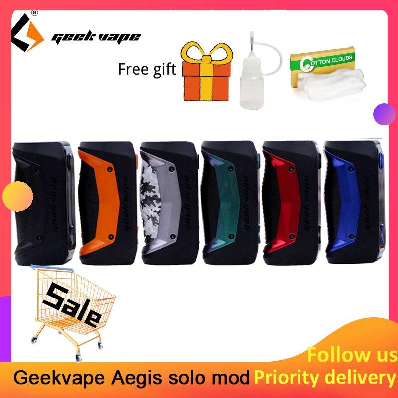 Original GeekVape Aegis Solo mod 100W Vape mod par 18650 batterie pour Tengu RDA E Cigarette Fit 510 E Cigarette boîte mod