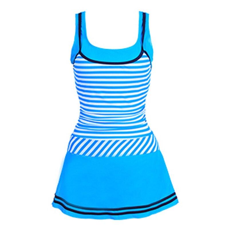2016 A-Line Dress Summer style Young women Stripes dress swimwear U neck slender womens swimsuits One Pieces Beach wear женское платье summer dress 2015cute o women dress