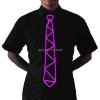 110 Type Flashing Cute Funny NEW Design 100pcs LED NeckTie Glowing EL Wire Tie Neon Light