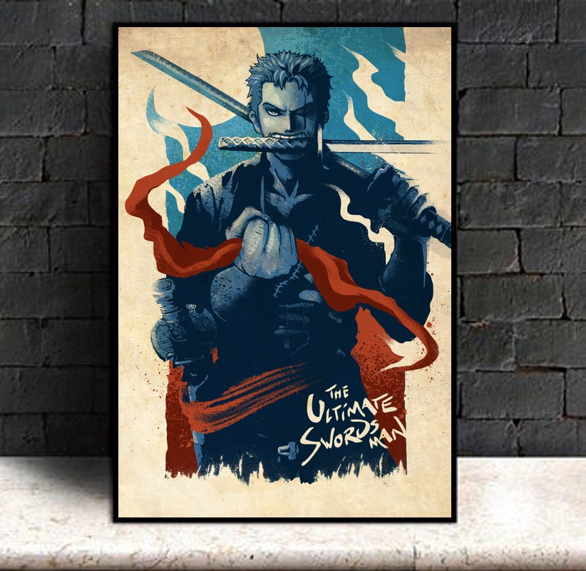 Dragon Ball Anime Home Decor Japan Poster One Piece Roronoa Zoro