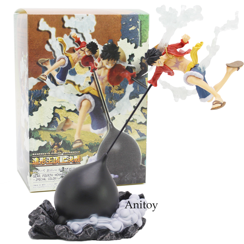 Anime One Piece SCultures BIG Banpresto Figure Colosseum Gear Fourth Monkey D Luffy PVC Figure Collectible Model Toy 28cm anime one piece action figure king of artist gear 4 fourth monkey d luffy ace hancock mihawk pvc collection model toy