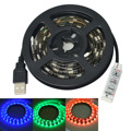 Jiawen USB 60-SMD5050 RGB 1M LED Waterproof Strip Light - black